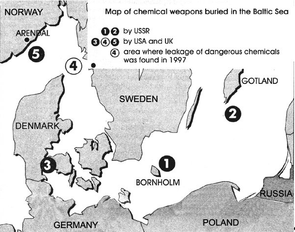 Map of Chemical Weapons Buried in the Baltic Sea